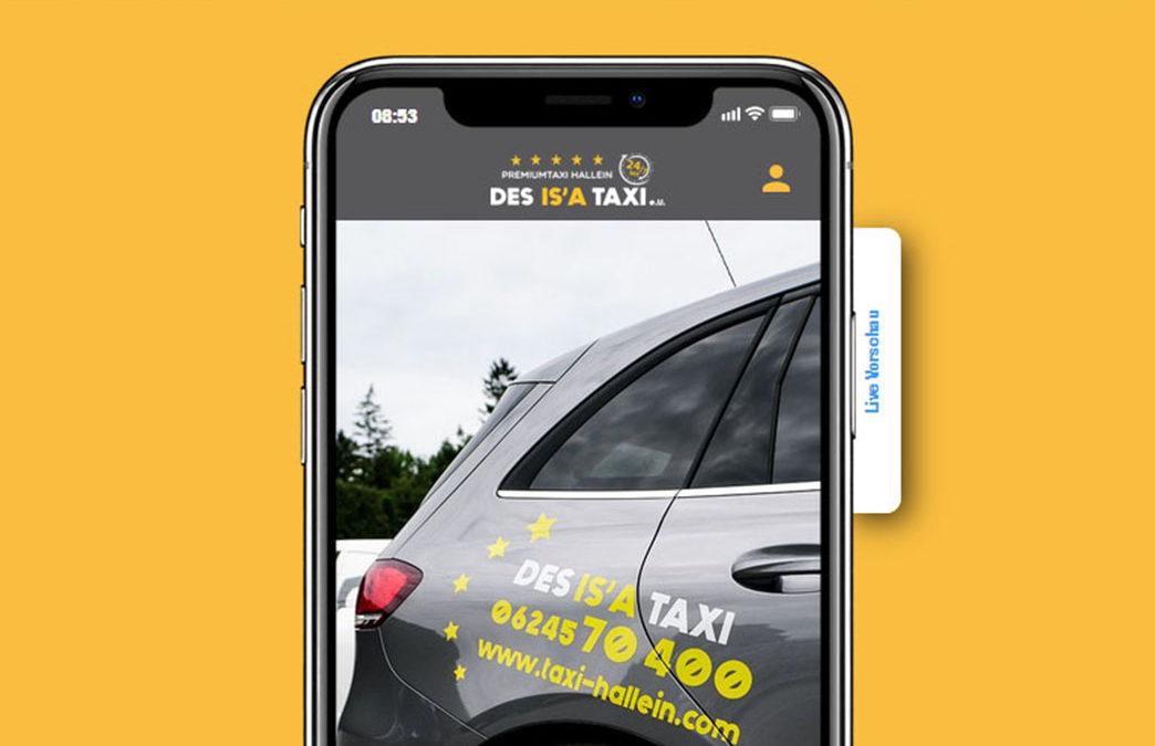 Ab sofort ist die DES IS'A TAXI App verfügbar