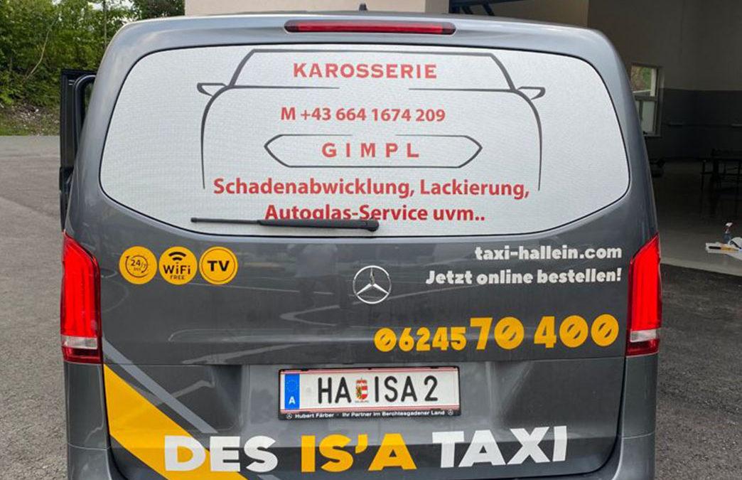 Nutzen Sie unsere Taxis als Werbefläche